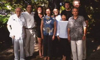 Leadership Team photograph during its first meeting, Gandhi statue, Honolulu, December 2008