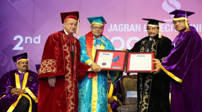 Professor Glenn D. Paige Receives a Honorary Doctorate of Humanities from Jagran Lakecity University in Bhopal, India