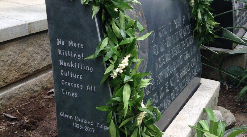 Memorial Gathering in Homage of Glenn Paige, Honolulu
