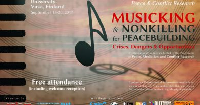 Musicking and Nonkilling for Peacebuilding Conference in September